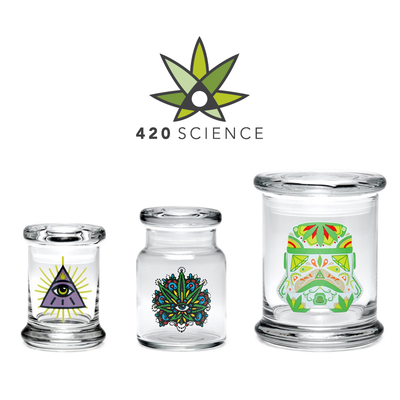 420 Science - Classic Pop-Top Glass Jars