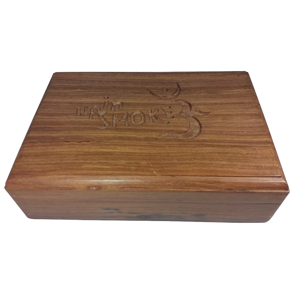 Up In Smoke Carved Wooden Boxes