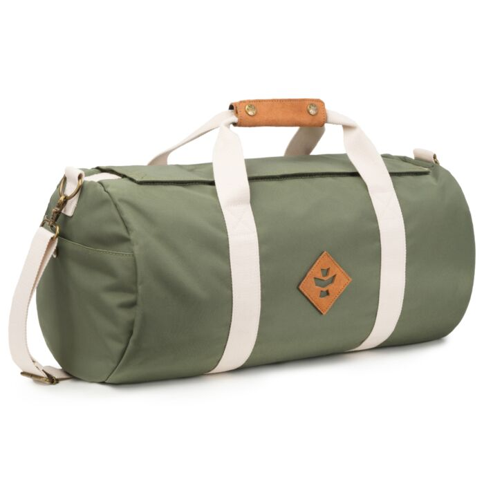 248d7163c Revelry Odour Absorbing Luggage - Duffles - The Overnighter - Green |  Storage | Up In Smoke